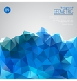 Blue mountain of triangles geometric template vector image