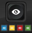 Eye Publish content icon symbol Set of five vector image