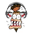 deadly loud headphones vector image vector image