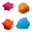 Set of colorful abstract low poly shapes vector image