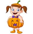pumpkin kid vector image vector image