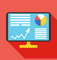 analysis icon business concept vector image