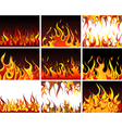 Big collection of fire elements vector image