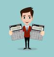 calculation concept icon businessman accountant vector image