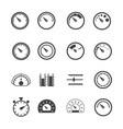Circular meter icons set vector image