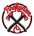 Color vintage fireman emblems vector image