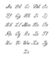 hand drawn alphabet handwritten letters vector image