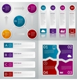 infographics four templates vector image