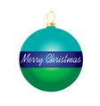merry christmas on striped ornament vector image