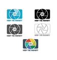 Shutter Icon or logo design template Camera and vector image