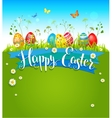Bright Easter background vector image