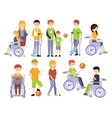 Physically Handicapped People Living Full Happy vector image