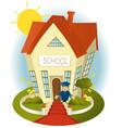 Happy school vector image vector image