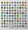 flat line web icon - set 1 vector image