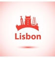 silhouette of Lisbon Portugal City vector image