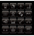 line business and industry icons vector image