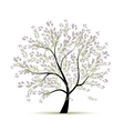 Spring tree floral for your design vector image