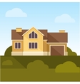 Classic Family Home Flat Design Style vector image