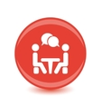 Icon Conference People sitting around the table vector image