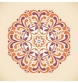 a vintage radial ornament vector image