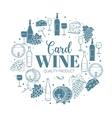 Decorative vintage wine icons vector image