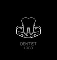 Dentist logo Tooth logo vector image