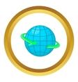 Globe and round the world arrow symbol icon vector image