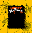 Halloween background with spider web vector image