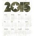military calendar 2015 vector image