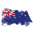 New Zealand Flag Grunge vector image