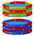 rubber swimming pool in two colors vector image