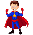 superhero cartoon for you design vector image