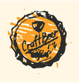 craft beer cap pub sketch vector image