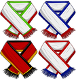 Sports Team Scarf Pack 2 vector image