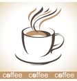 Stylized coffee cup vector image vector image