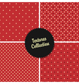 red classical polka dot patterns collection vector image