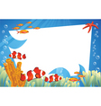 clown fish background vector image vector image