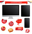 contemporary gadgets vector image