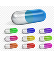 Multicolored capsules vector image