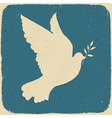 dove of peace retro vector image