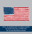 american flag flat - artistic brush strokes and vector image