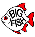 big fish background vector image