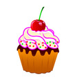 cake with cream vector image