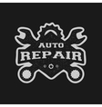 Car repair monochrome emblem vector image