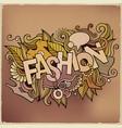 cartoon cute doodles hand drawn fashion vector image