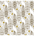 ethnic seamless pattern with stylish trees vector image