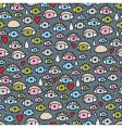 eyes pattern vector image