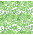 Floral seamless pattern with butterfly and dragonf vector image