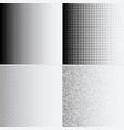 halftone dots on white background vector image