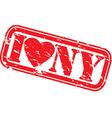I love New York stamp vector image